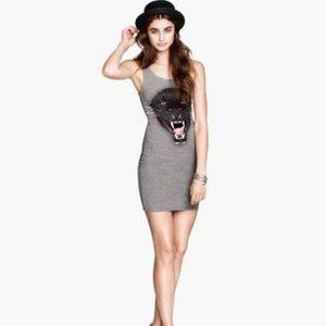 H&M Panther Bodycon Tank Dress